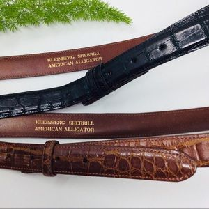 VTG Kleinberg Sherrill Alligator (2) Belt Strap